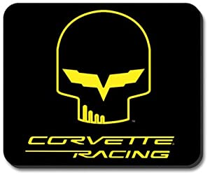 C6 Corvette Racing Jake Skull Mouse Pad