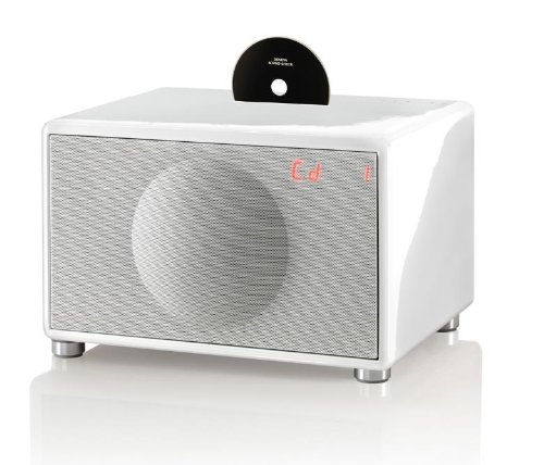 Geneva Sound System Model L Wireless All-In-One Hifi System With Cd, Bluetooth & Fm (White)