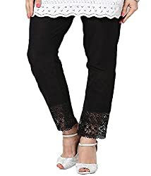 Castle Womens Cotton Palazzo ,Black ,Free Size