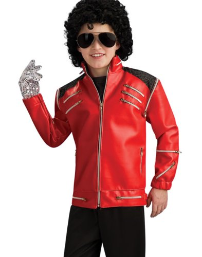 Michael Jackson Thriller Silver Sequins Kids Glove Halloween Costume Accessory