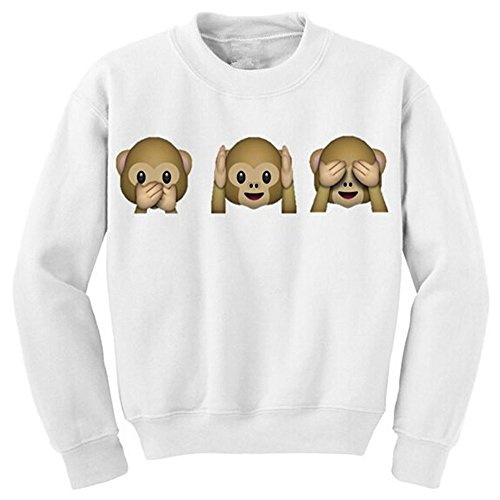 Demarkt Cattivo Scimmia Emoji Donne Stampato Manica lunga Maglione Top Camicetta Animali Del Fumetto Felpa