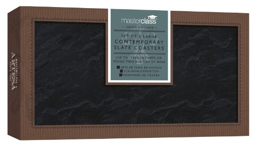 Artesa Master Class - Platos para servir (pizarra), color negro