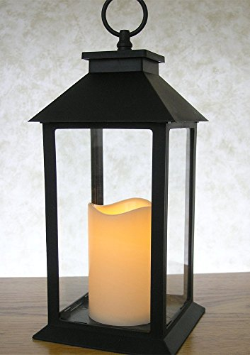 Decorative-Black-Lantern-LED-Flickering-Flameless-Pillar-Candle-with-5-Hour-Timer-Included-IndoorOutdoor-Lantern-13
