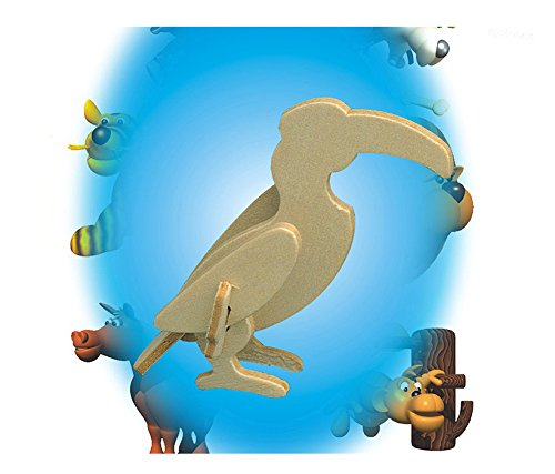 Puzzled Toucan Mini 3D Puzzle (7 Piece) - 1