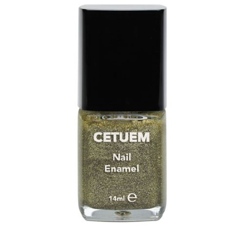 Cetuem Solid Glitter Nail Polish - 14ml; Light Gold No 52 | Essential Nails