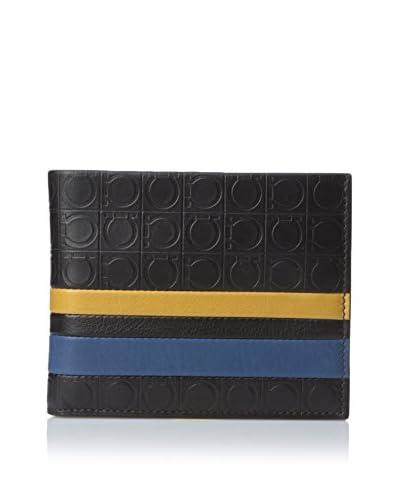 Salvatore Ferragamo Men's Gamma Banner Billfold Wallet, Dutch Blue