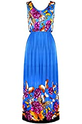 G2 Chic Women's Tiered casual stretchy Maxi Dress