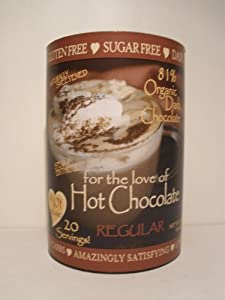 InJoy Organics, Organic, Dark Chocolate, Dairy Free, Sugar Free, Gluten Free, Hot Chocolate, 20 Servings