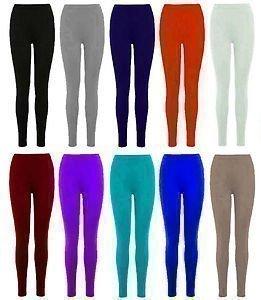 Full Length Leggings Stretchy Trousers Black S/M 8-10