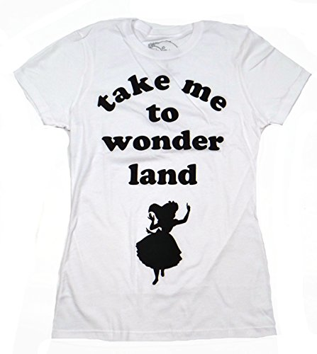 Disney Alice In Wonderland Take Me To Wonderland Juniors Tee