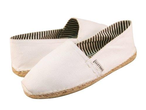 Cheap Ibiza Men's White Espadrilles Hand Made Natural Cotton and Jute (B0078MPB0C)