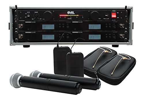 Shure BLX24R/SM58 BLX14R/HS-09 Combo 2/2 Pack Wireless System w/ Power Supply (Osp Rack 3 Space compare prices)