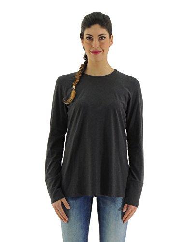 Brunello Cucinelli t-shirt donna a manica lunga cotone M0T1868700 (XL, GRIGIO)