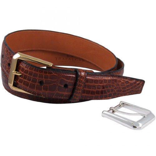 Trafalgar Classic Chestnut Alligator Belt Size 34