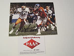 Ozzie Newsome Cleveland Browns Signed Autographed Photo Authentic Certified Coa