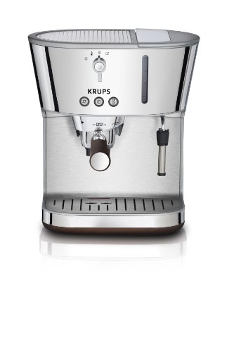 KRUPS XP4600 Silver Art Collection Pump Espresso Machine with KRUPS Precise Tamp Technology, Stainless Steel/Chrome Discount