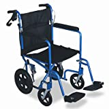 Medline MDS808210AB Aluminum Transport Chair with 12