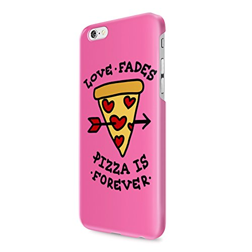 Pink Love Fades Pizza Is Forever Hard Snap-On Protective Case Cover For Iphone 6 / Iphone 6S