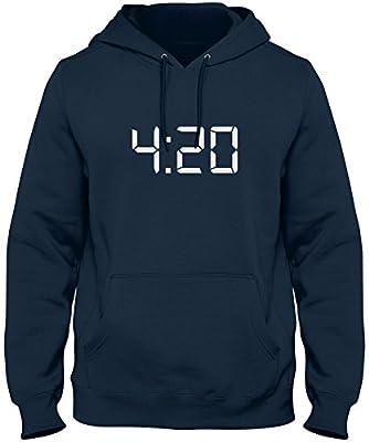 ShirtLoco Men's 420 Digital Clock Hoodie Sweatshirt