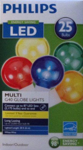 Phillips Indoor/Outdoor G40 Globe Lights - Multi Colored