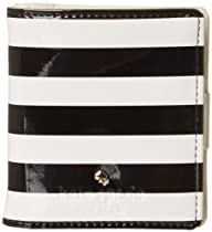 kate spade new york Harrison Street Stripe Small Stacy PWRU3450 Wallet,Black/Cream,One Size