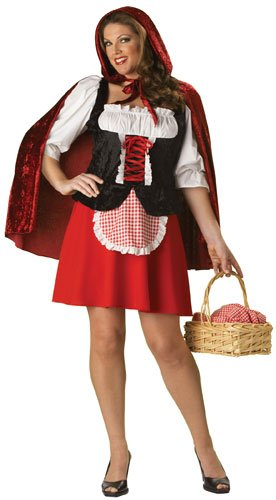 InCharacter Costumes Wonen's Red Riding Hood Plus Size Costume Red/White/Black, XXX-Large
