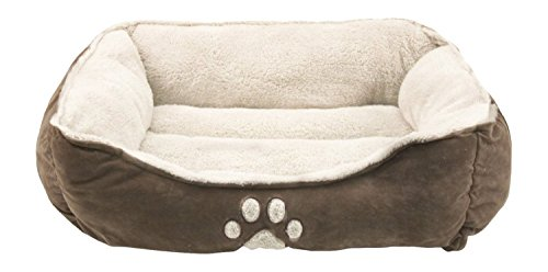 Sofantex Pet Bed – Fit Medium Sized Dog / Fat Cat, Machine Washable, Ultra Soft Pet Sofa – Dark Coffee