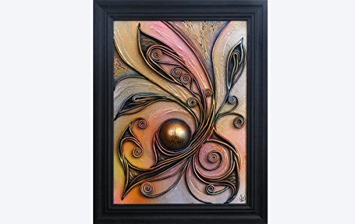 3d-hand-painted-leather-wall-art-decor-picture-vintage-style-wooden-frame-hand-painted-ceramic-hemis