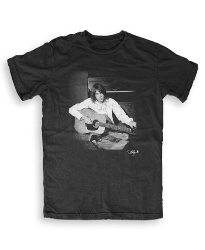 Don 't Talk To Me About Heroes - Neil Young (1) - Music T-shirts by Dick Barnatt S To XXL ltext nero Medium