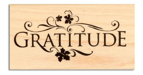 Inkadinkado Wood-Mounted Rubber Stamp Gratitude By The Each