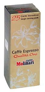 25 Espressopads 'Qualità Oro' von Caffè Molinari, 1er Pack (1 x 175 g)