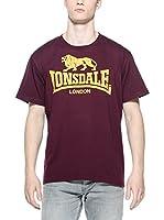 Lonsdale Camiseta Manga Corta Logo (Burdeos)
