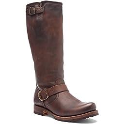 FRYE Women\'s Veronica Slouch Boot: Wide Calf, Dark Brown Calf Leather Wide Calf, 6 M US