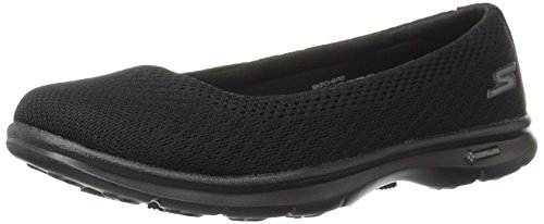 Skechers Performance Womens Go Step Primary Walking Shoe, Black Mesh, 9 M US