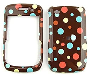 Blackberry Curve 8520/8530/9300  Little Tiny Polka Dots on Brown  Hard Case/Cover/Faceplate/Snap On/Housing/Protector