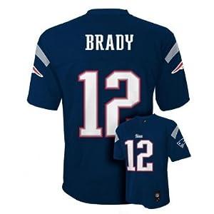 NFL New England Patriots Tom Brady Team Apparel Youth Navy Football Jersey by NFL