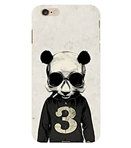 Fiobs Panda Skull Psy Funky Phone Back Case Cover for Apple iPhone 6s