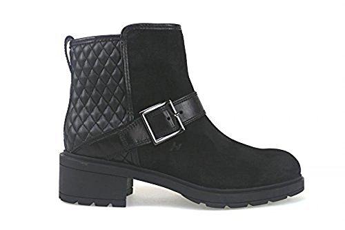 scarpe donna HOGAN 36 EU stivaletti nero pelle camoscio AK697