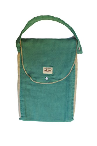 Poncho Baby Organic Diaper Bag: Pack-N-Run Emerald/Beige