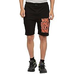 DKClues Mens Black Color Printed Shorts