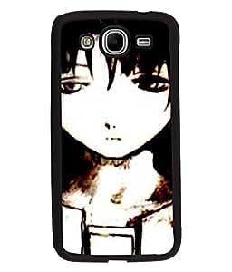 Fuson Sad Girl Back Case Cover for SAMSUNG GALAXY MEGA 5.8 - D4068