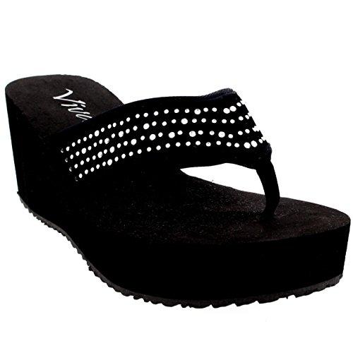 tongs et sandales pour femme les mod les compens s sac shoes. Black Bedroom Furniture Sets. Home Design Ideas