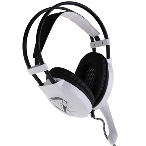 Vktech Sades Gaming Headset Retractable Mic Surrounding Sound (Sa-A10 White)