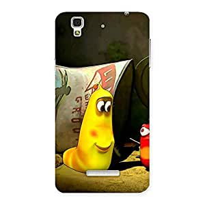 Delighted Naughty Friendly Cartoon Back Case Cover for Yu Yureka