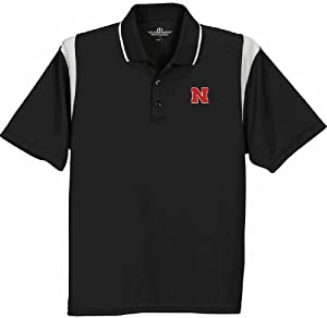 Nebraska Cornhuskers Multi Color Sports Polo Black by Vansport