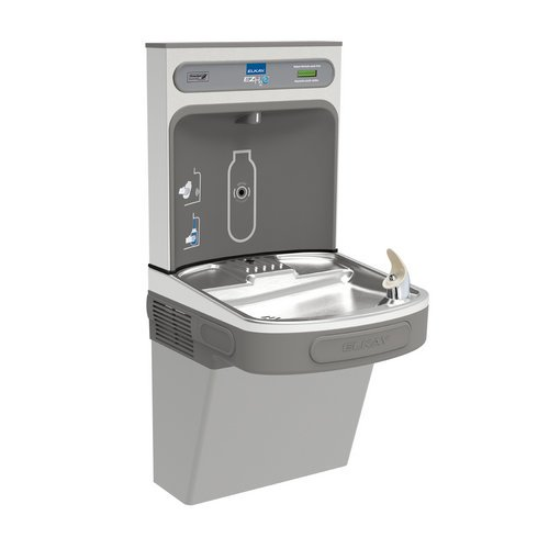 Elkay EZSDWSLK EZH2O Bottle Filling Station with Single EZ Drinking Fountain, ADA, Light Gray Granite, Non-Refrigerated (Elkay Water Bottle Filler compare prices)