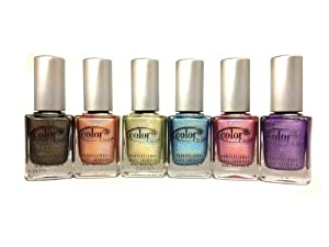 Color Club 2013 Holographic Halo Hues Nail Polish Lacquer 6 Color Collection