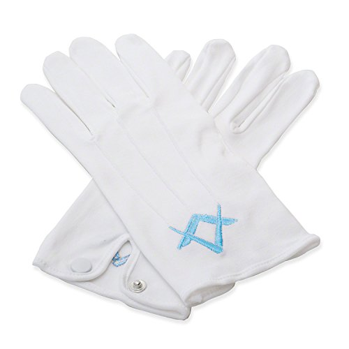 Craft Guanti 100% cotone bianco con blu SQ e bussola small
