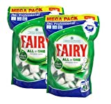 Fairy All In One Dishwasher Tablets Original, 2 x 58 pack