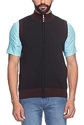 Raymond Men's Woolen Sweater (8907252535248_RMWY00448-K8_39_Black)